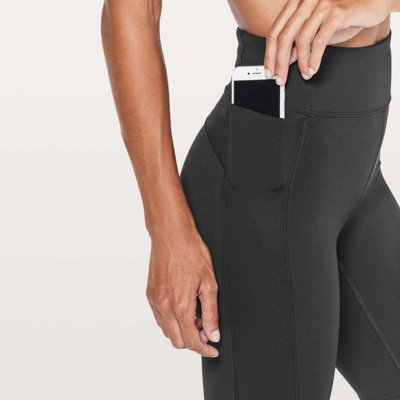 lululemon athletica Pants - Lululemon On Pace Short Biker Shorts Black
